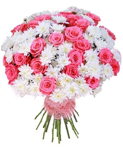 19 роз и 20 хризантем
