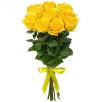 9 желтых роз