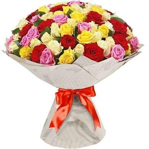 Яркий букет 51 роза